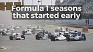 Motorsport Stories: Formula 1 seasons that started early