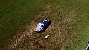 Acidente de Edu Azevedo gravado por um drone