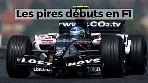 Les pires débuts en F1