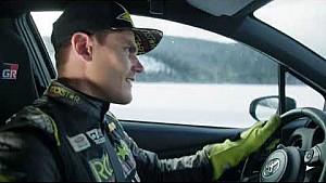 Yaris GRMN x Fredric Aasb Ice driving session