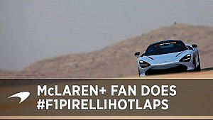 F1 Pirelli hot laps meets McLaren+ Fan!