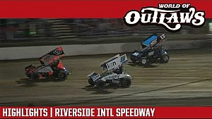World of Outlaws Craftsman sprint cars riverside International speedway April 20, 2018 | Highlights