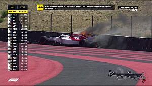 La Sauber de Marcus Ericsson en feu au Paul Ricard