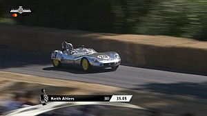 Lola Mk1 makes a timed run at Goodwood FOS